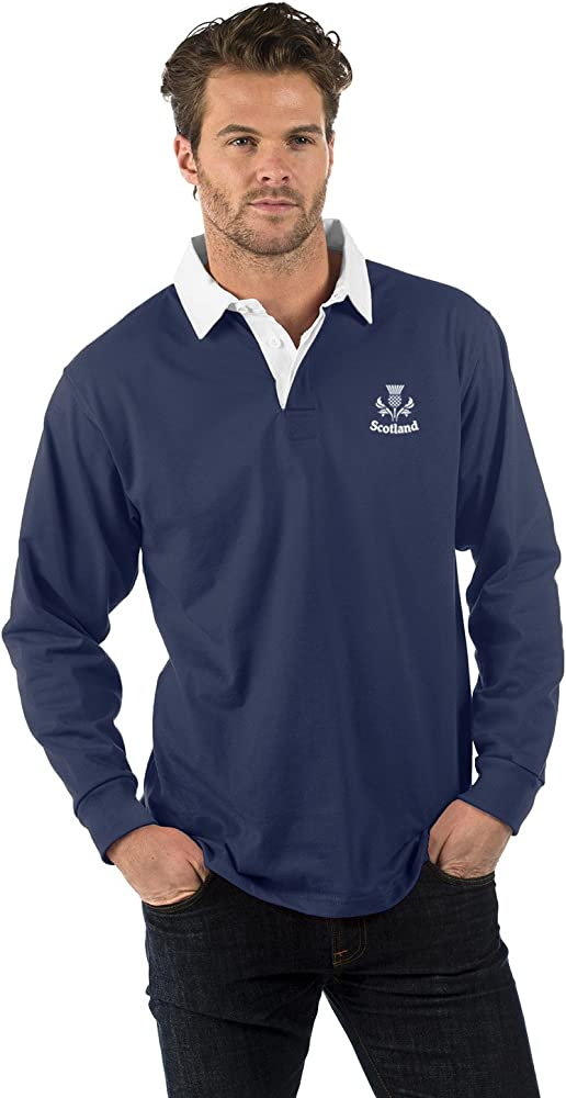 Scotland Thistle - Camiseta de Rugby de Manga Larga, Color Azul ...