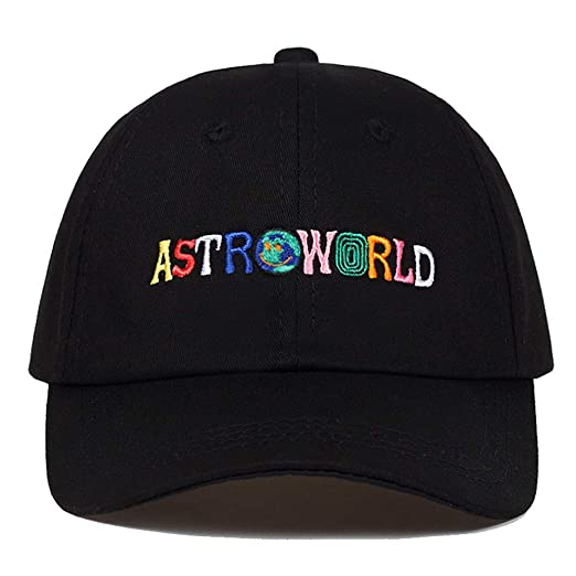 ASTROWORLD Baseball Caps Travis Scott Unisex Astroworld Dad Hat Cap Man  Women Summer Hat (Black1 f0d25d4ab4ad