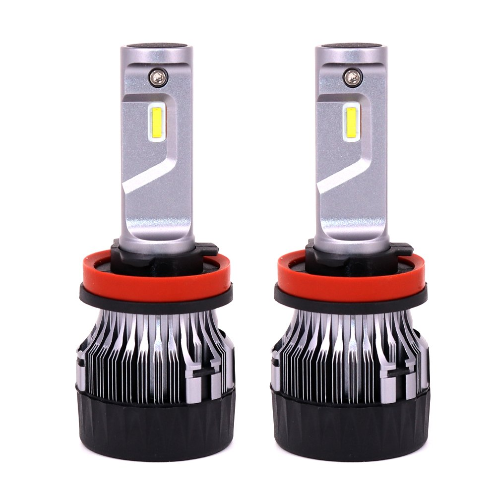 Diesel Auto H8 H9 H11 Led Headlight Bulbs-10000LM 60W 6500K Cool White- H11 CREE Led Headlight Conversion Kit, Fan Removable Mini Size Led Car Bulbs- 1 Year ...