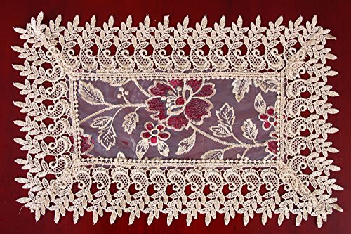 Beige Lace Table Doilies And Placemats Rectangular 12