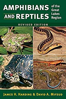 Book Cover: Amphibians and Reptiles of the Great Lakes Region, Revised Ed.
