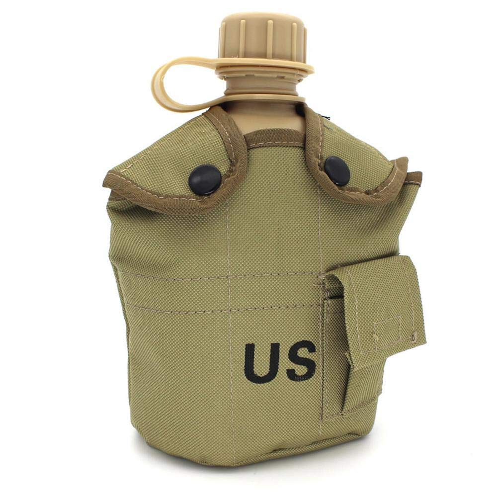 Previously Issued U.S G.I 1 quart Olive Drab Military Canteen Nylon Cover with Never Issued 1 quart Olive Drab Canteen 3