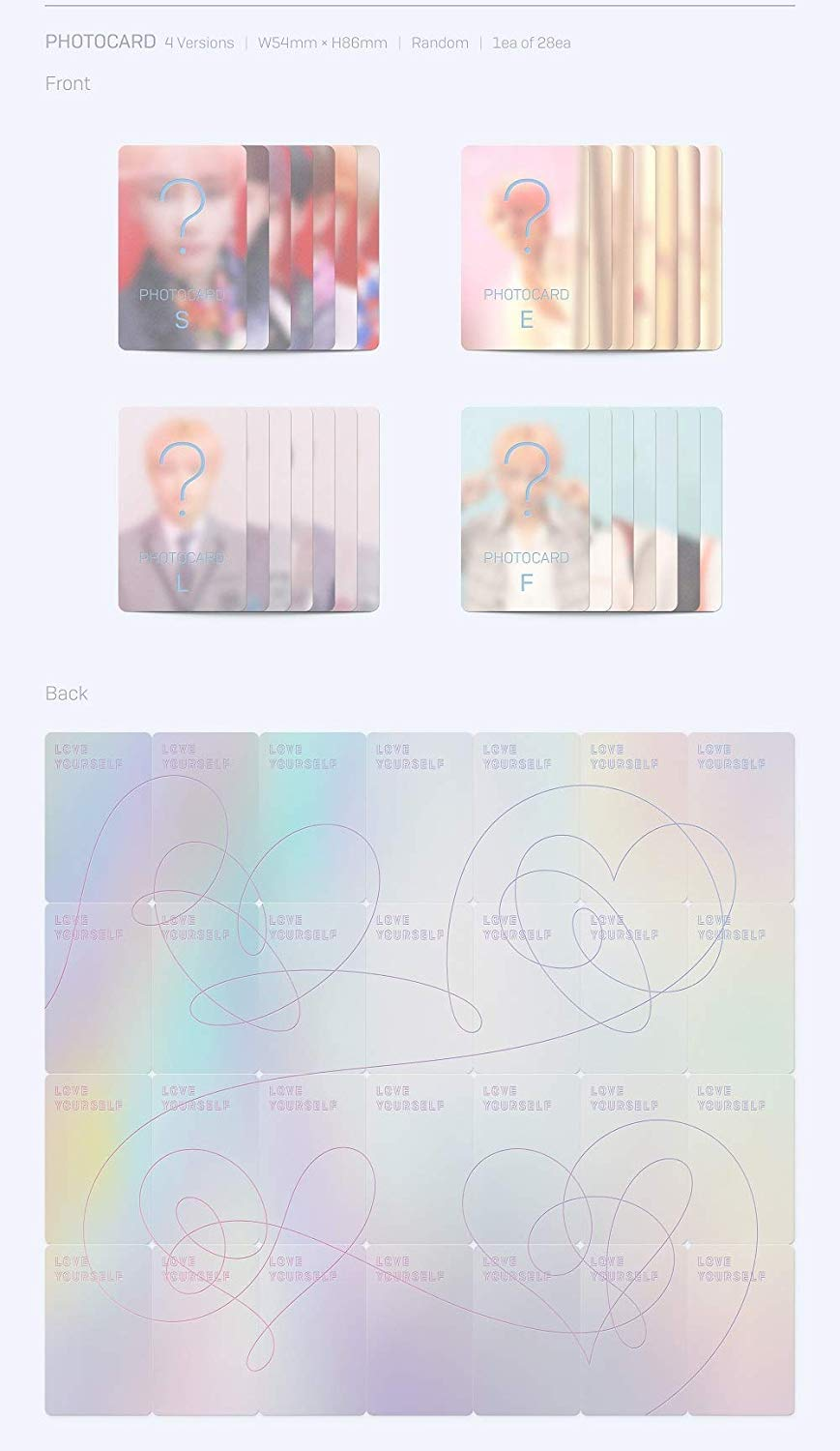 BTS - [Love Yourself 結 'Answer'] 4th Album F VER 2CD+Poster+116p PhotoBook+20p Mini Book+1p PhotoCard+1p Sticker+Pre-Order+Extra PhotoCard Set K-POP Sealed by BTS (Image #6)