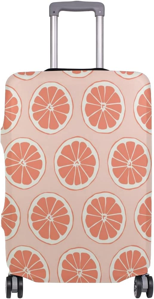 OREZI Luggage Protector Pink Orange Pattern Travel Luggage Elastic Cover Suitcase Washable and Durable Anti-Scratch Stretchy Case Cover Fits 18-32 Inches