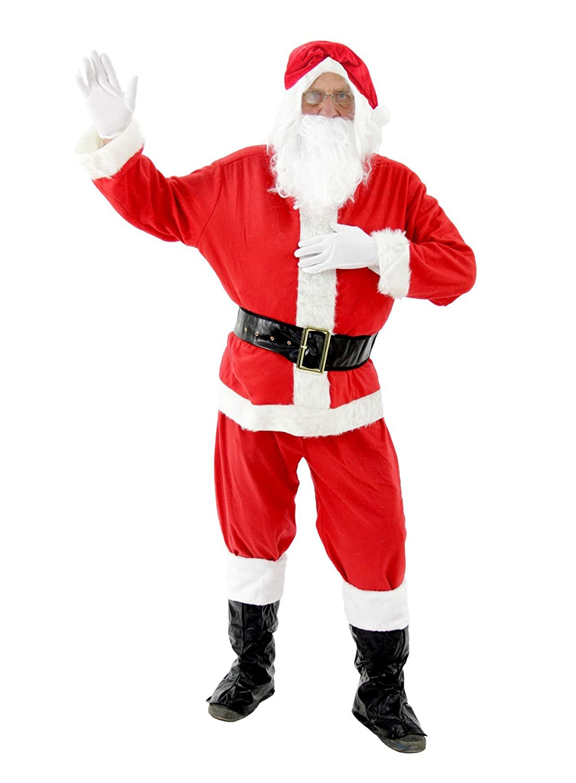foxxeo 10026 | Disfraz Disfraz Papá Noel Papá Noel Navidad Santa Claus Disfraz de Papá Noel Papá Noel (Tallas S – XXXXL
