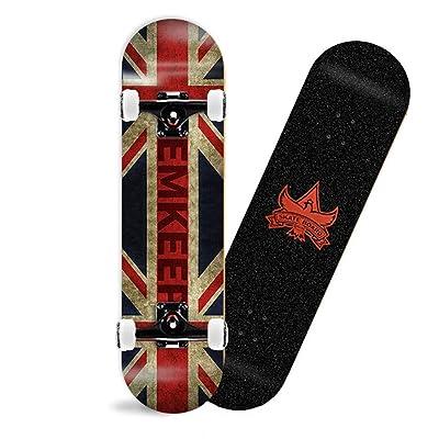 SHATONG Teens Four-Wheel Skateboard Beginner Surfing Street Kids U-Shaped Skateboard Profession Student Dancing Skateboard Boy Highway Trendy Skateboard Double Warped Wood Deck (Color : B) : Sports & Outdoors