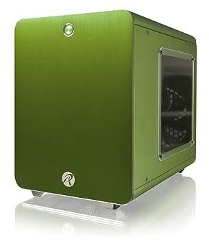 RAIJINTEK METIS Carcasa de Ordenador Cubo Verde - Caja de Ordenador (Cubo, PC, Aluminio, SPCC, Mini-ITX, Verde, 1,5 mm)