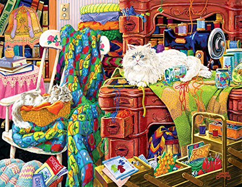 Sunsout 38861 1000+ Piece Quilters Helpers Jigsaw Puzzle