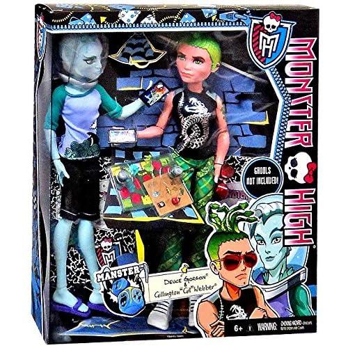 Monster High Lot de 2mansters–Gil Webber et Deuce Gorgon