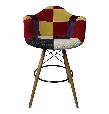 Amazon Com Gfurn Daw Eiffel Bar Armchair Stool Patchwork C Fabric