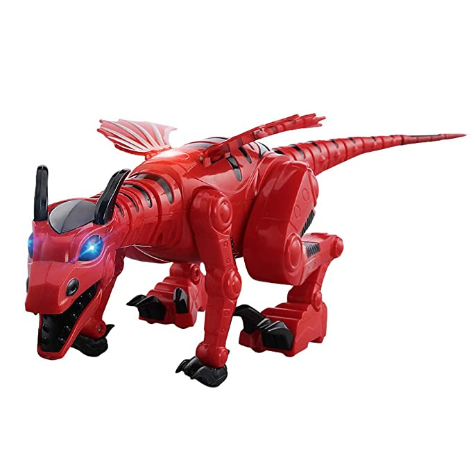 Amazon.com: CMrtew Electric Walking Dinosaur Toys Glowing Dinosaurs with Sound Animals Model Toys for Kids Children Interactive Toys Gift (Red, ...