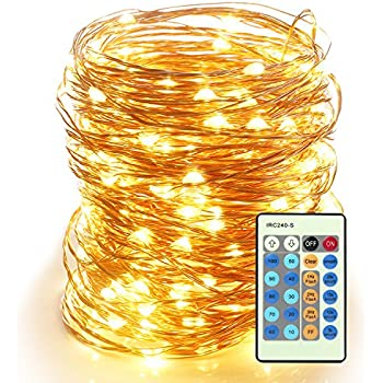 amazon com led string lights 99ft 300led with remote control
