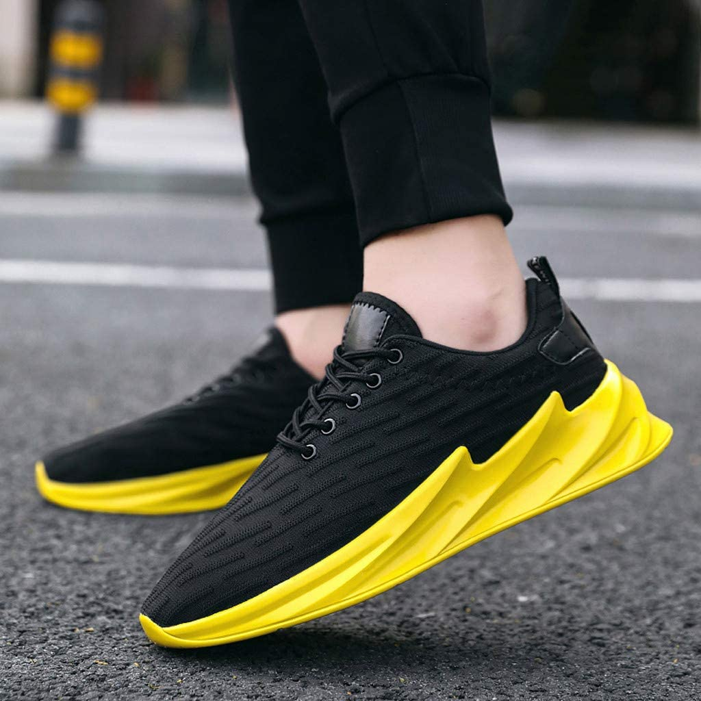BIKETAFUWY Running Shoes Men Mesh Breathable Sneakers Sports Air Cushion Mens Tennis Shoe Lightweight Walking Athletic
