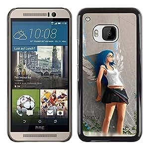 LECELL -- Funda protectora / Cubierta / Piel For HTC One M9 -- Cute Angel Girl --