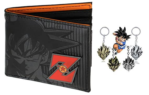 Traveloxicity Gear Dragon Ball Character Leather Bi-Fold Wallet with free gift keychain for Men or Boys