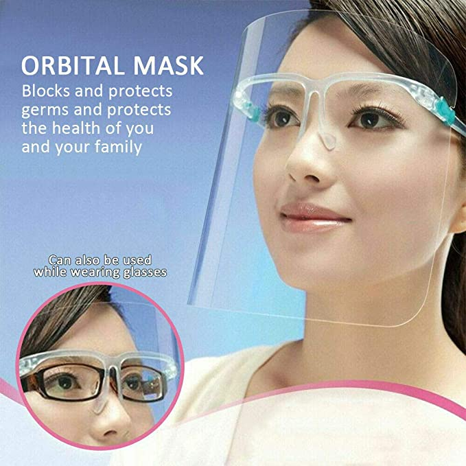 Safety Full Face Shield Cover Goggles Visor Cap Anti-Oil Cooking Protector