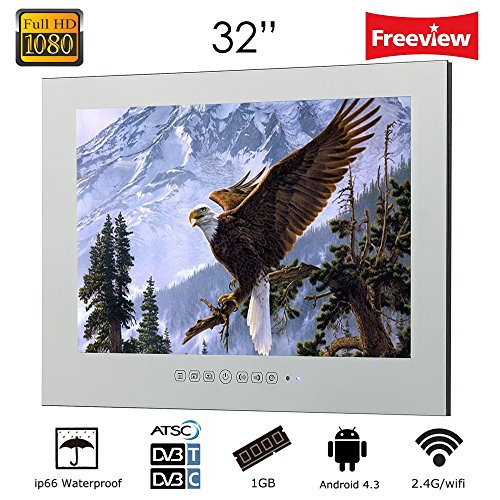 "Soulaca 32"" LCD Smart Magic Mirror TV and Android TV Monitor"