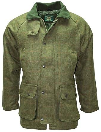 WOODGREEN - Manteau Homme Tweed Chasse Vert - Vert, Large  Amazon.fr ... a25ba3de483b