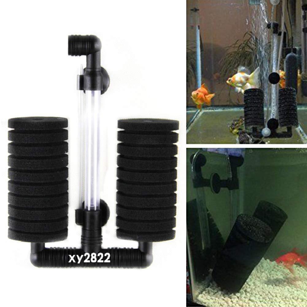 Filtro per acquario strumento di pulizia per acquario nessun rumore e sicuro semplice ed efficace #2 Come da immagine doppia testa strumento di pulizia manuale per acquario