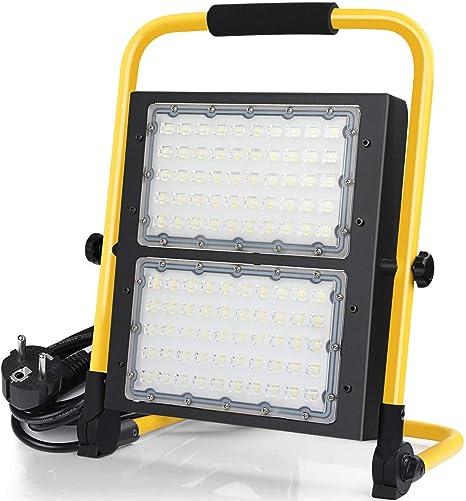 100W Foco LED Proyector,10000Lumens, IP65, Proyector LED giratorio ...