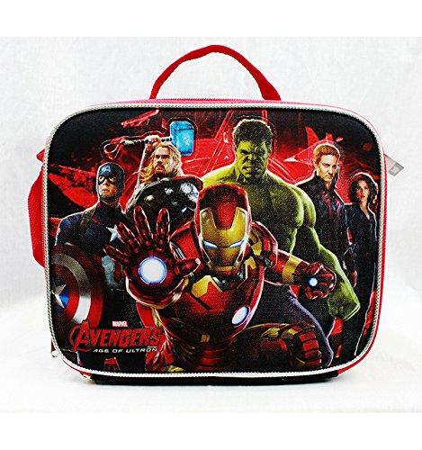 Borsa per il pranzo, motivo  Marvel Avengers I Heroes a02259, colore  nero rosso
