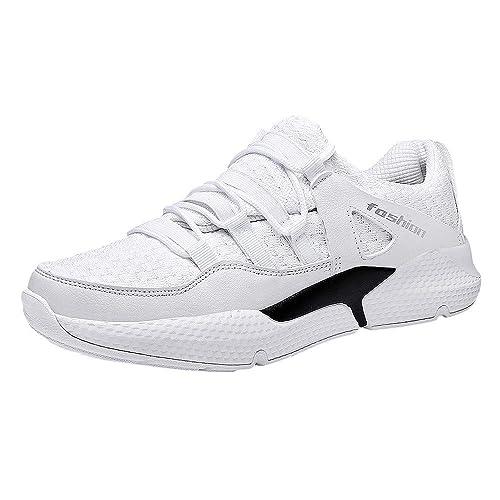 Zapatos Hombre Black Friday Casuales Invierno Hombres Zapatos Casuales Malla Ligera Zapatillas de Plataforma Antideslizantes con Cordones Transpirables: ...