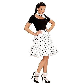 NET TOYS Falda Rockabilly años 50 con pañuelo Enagua Vuelo ...