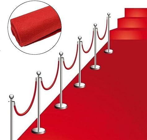 Premium Hochzeits Roter teppich Velour VIP 130x900 cm rot