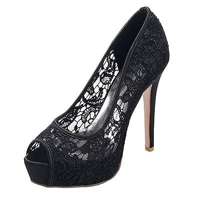 Chaussures à Femme,dentelle Zicac Marriage Stiletto De Bout Talon LUMpqzGVS