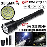 Boofab Tactical Flashlight,XLightFire T6 5 Mode Super Bright LED Flashlight Zoomable Tactical Flashlight Rainproof Lighting Lamp Torch -with Rechargeable 18650 2800mAh Battery -For Cycling Hik