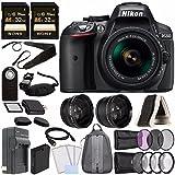 Nikon D5300 DSLR Camera with 18-55mm AF-P DX Lens (Black) + Battery + Charger + Sony 32GB Card + HDMI + Backpack Case + Remote Bundle