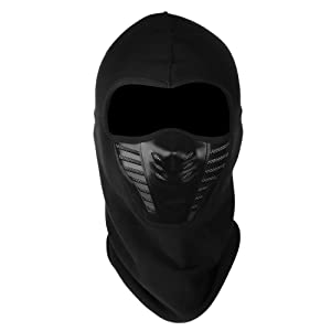 Cido Cagoule Moto Masque contre Froid et Vent Protège de Nez Oreille Visage Tour de Cou pour Femmes et Hommes Noir