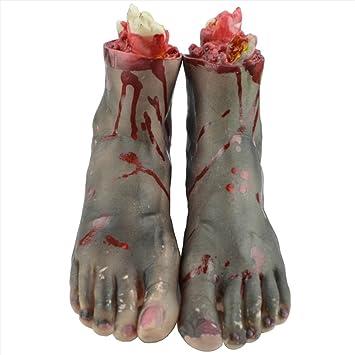 Eizur 1 Paar Halloween Blutige Abgetrennter Fuß Horror Requisiten ...
