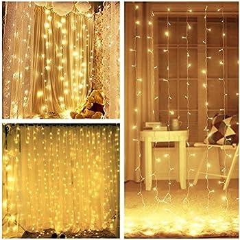 Amazon.com : LIGHTESS 300 LED String Fairy Light Curtain Lights 8 ...