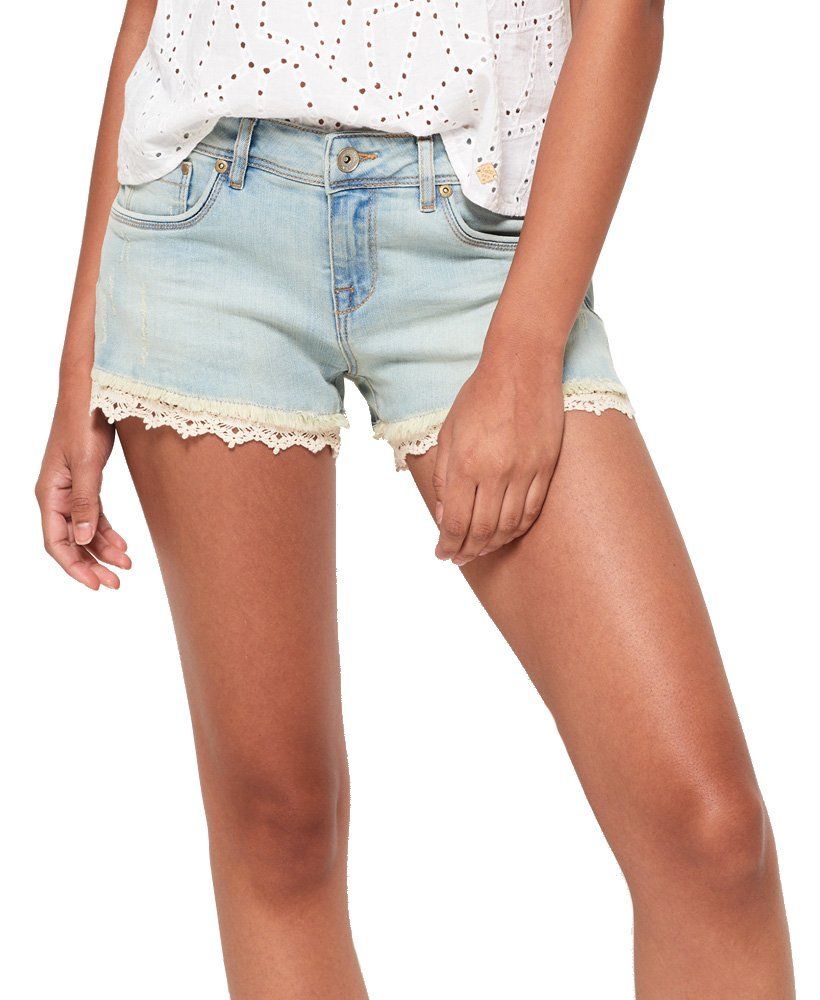 Superdry Women's Lace Trim Hot Short (Canyon Tint, 29)