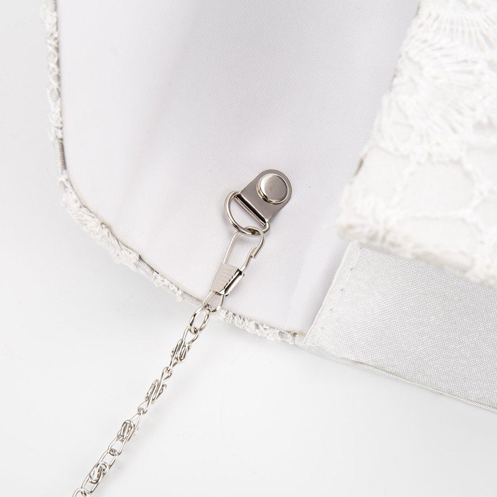Women Elegant Evening Bags and Clutches Floral Lace Envelope Handbag Purse Bridal Wedding Purse