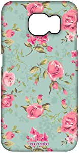 Macmerise Teal Pink Flowers Pro Case For Samsung S7 Edge