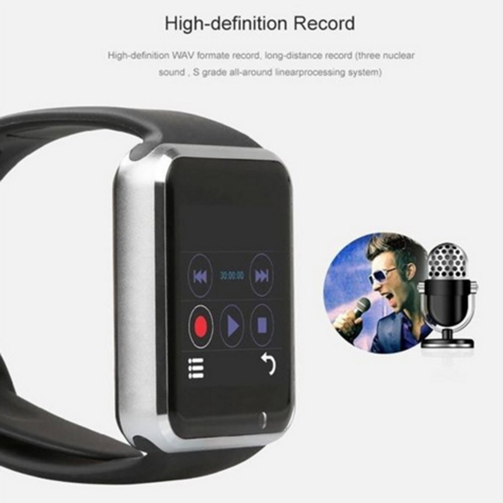 4758245af8ea Austec 2016 Nueva de Bluetooth A1 Smart Watch wristphone Reloj Deportivo  Para Apple iPhone 6 Samsung S4 NOTE 2 Note 3 HTC Android iOS Phone   Amazon.es  ...