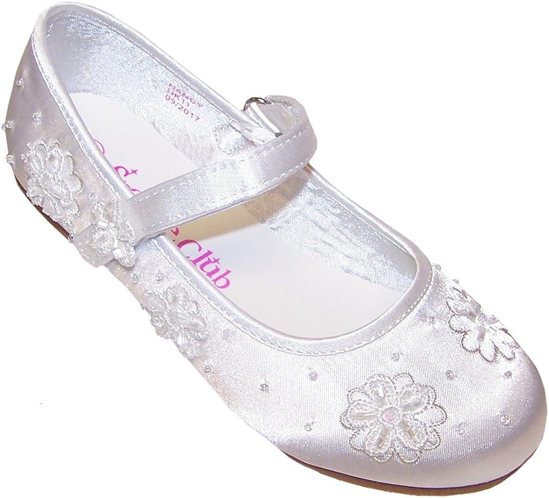 Sparkle Club Girls' White Satin Flower
