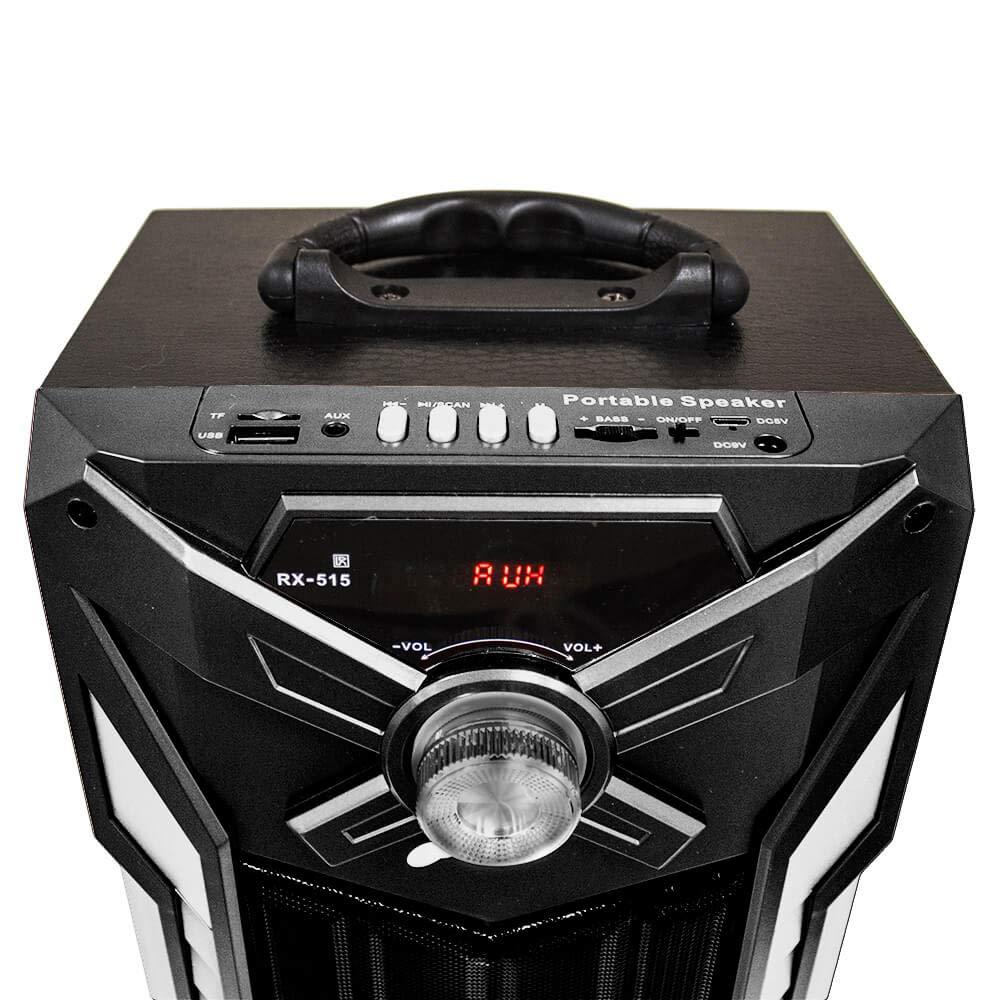 Xinbo Altavoces Karaoke con Micr/ófono Torre de Sonido Bluetooth Home Cinema Sonido HiFi Reproductor MP3 Port/átil USB//Tarjeta TF//Radio FM//AUX//Luz LED