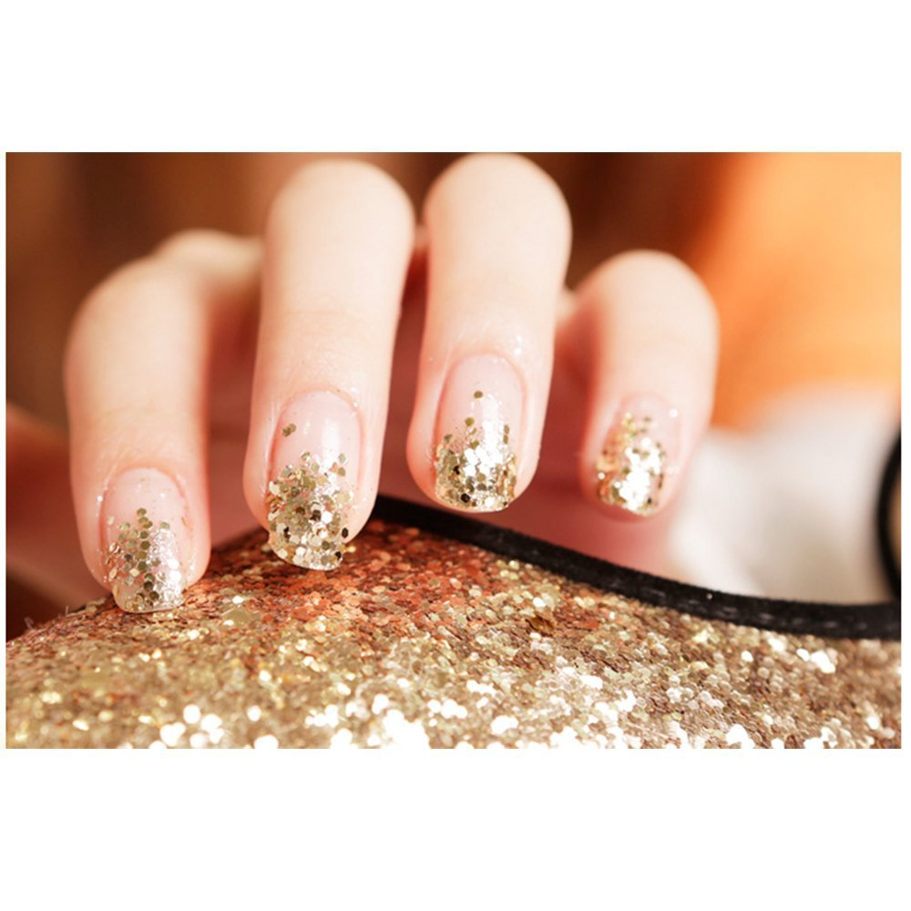 Amazon.com: Happlee® 3D Nail Art Decoration Set, Glitter Powder for ...