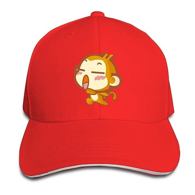 xj-cool dibujos animados Emoji Mono Gorra de running Gorra con visera Sandwich Rosa: Amazon.es: Ropa y accesorios