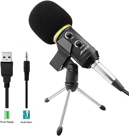 Micrófono Condensador USB Profesional para Grabar y Cantar ...