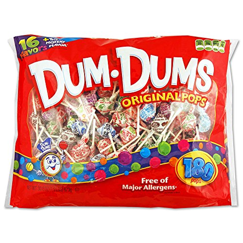 Dum Dums Original Pops Free of Major Allergens