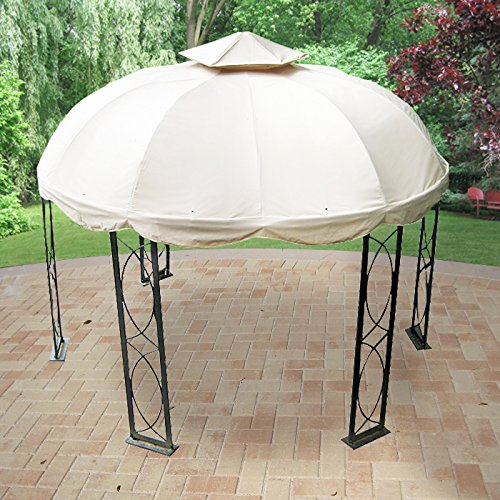12 FT Round Replacement Canopy-RipLock 350