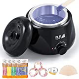 2020 Upgraded BFull Mini Wax Warmer, Instant Hair Removal Kit with 4 Pack Wax Beans, 20 Applicators, 10 Clean Collars, 3…