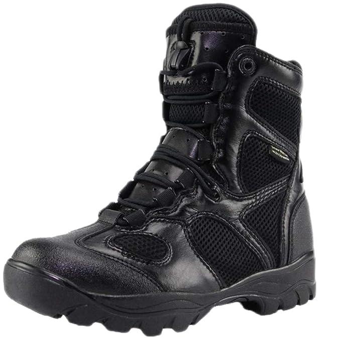 QIKAI Zapatos Militares Zapatos De Camuflaje Ligeros Y De Vestir De Camuflaje De Altura Alta. Botas De Combate Senderismo Camping, Ciclismo Zapatillas De ...
