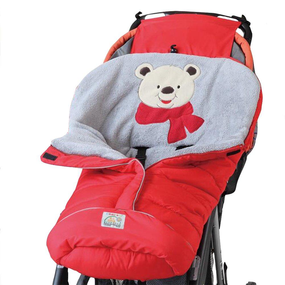 Baby Winter Outdoor Waterproof Sleepsack Stroller Sleeping Bag Blanket Sheets Swaddling Blankets (Pink) Zulaniu