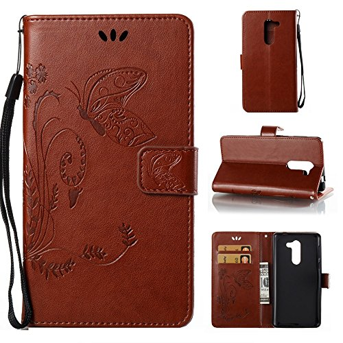 Click to buy SRY-screen protectors For Huawei GR5 2017,With Lanyard, Card Slot Butterfly Flat Open The Phone Shell ( Color : Brown ) - From only $14.67