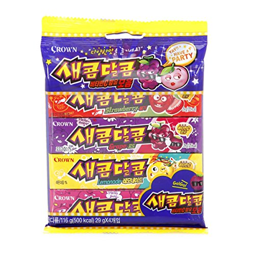 Korean Sweet and Sour Assorted Flavored Chewy Candy 116g (5 Pack)